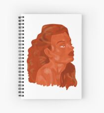 Fall Inspired Woman Spiral Notebook