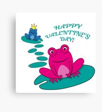 Frogs Valentine Canvas Print