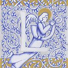 Angel Letter L Silver 2017 by Donna Huntriss