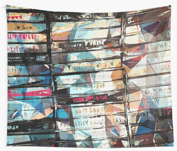 Musical Cassette Tapes Collage by Phil Perkins
