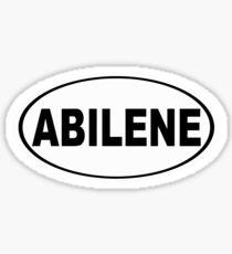 Abilene Texas Oval Design Sticker
