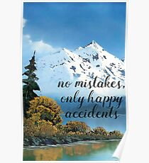 Bob Ross - Happy Accidents Poster