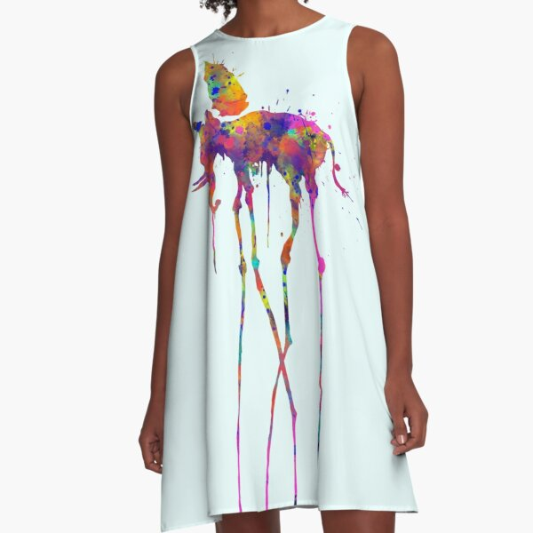 Dali Elephant A-Line Dress