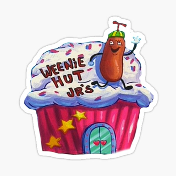 Weenie Hut, Jr. Spongebob Squarepants Sticker