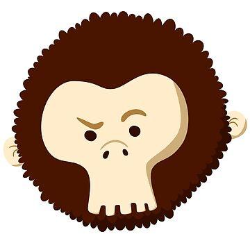 Skull Monkey Head by onibug