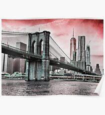 BROOKLYN BRIDGE TO MANHATTAN Poster