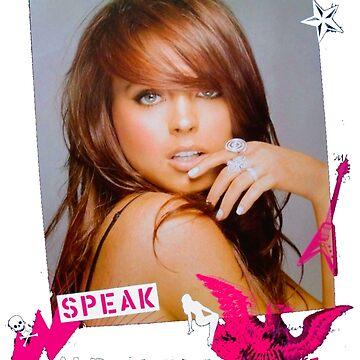 Lindsay Lohan Speak Design by dakotamoss