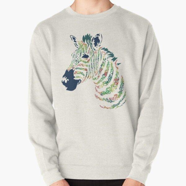 Collagen Zebra Pullover Sweatshirt