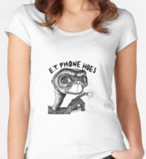 E.T. PHONE HOES Fitted Scoop T-Shirt