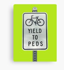 Yield To Pedestrians Canvas Print