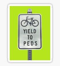 Yield To Pedestrians Sticker