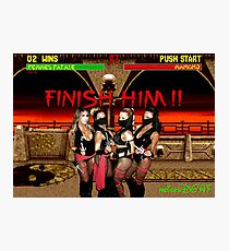 Finish Him Photographic Print