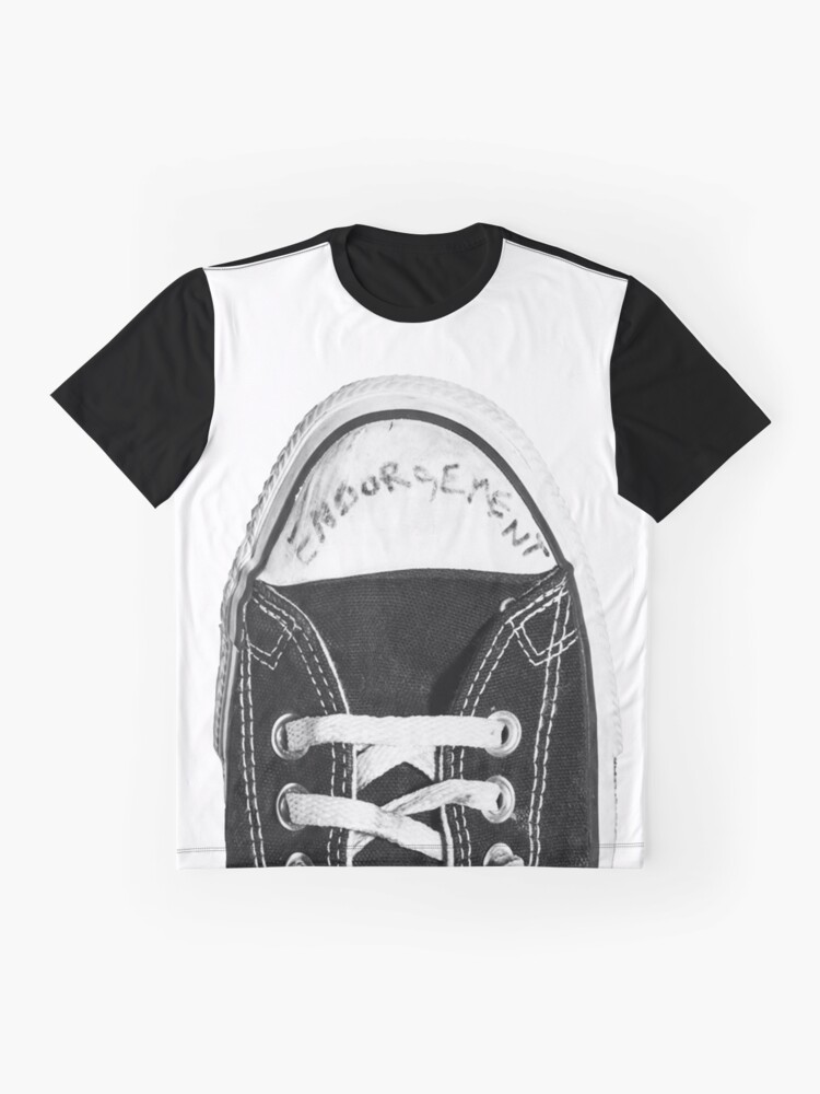 af41e6811ca Alternate view of Kurt Cobain Endorsement Converse Sneaker Graphic T-Shirt