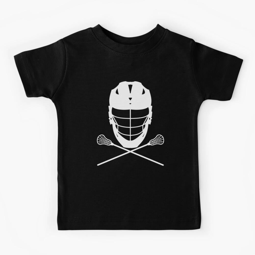 Lacrosse (LAX) Helmet and Sticks Kids T-Shirt