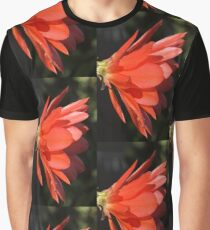 Red Zygo Flower in Profile Graphic T-Shirt