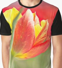 Two colour Tulip Graphic T-Shirt