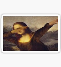 Dabbing Mona Lisa Art Sticker