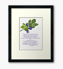 Hope - Habakkuk 3:17-19   Framed Print