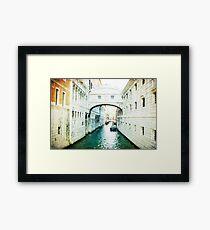 Bridge of Sighs - Venice Framed Print