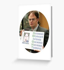 Dwight Schrute The Office TV Show Greeting Card