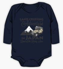 Landcruising Adventure in Japan - Curly font edition One Piece - Long Sleeve