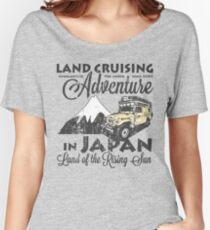Landcruising Adventure in Japan - Curly font edition Women's Relaxed Fit T-Shirt