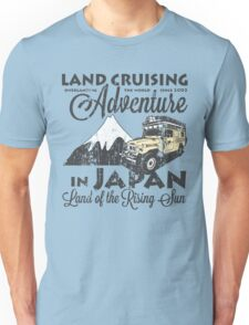 Landcruising Adventure in Japan - Curly font edition Unisex T-Shirt