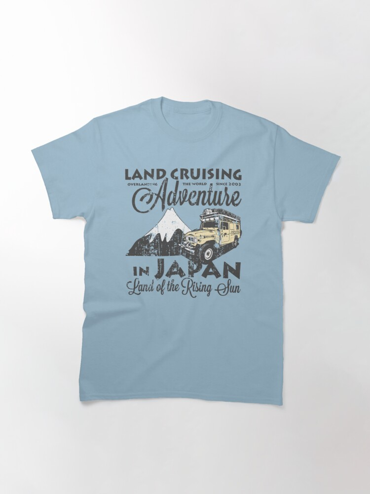 Alternate view of Landcruising Adventure in Japan - Curly font edition Classic T-Shirt