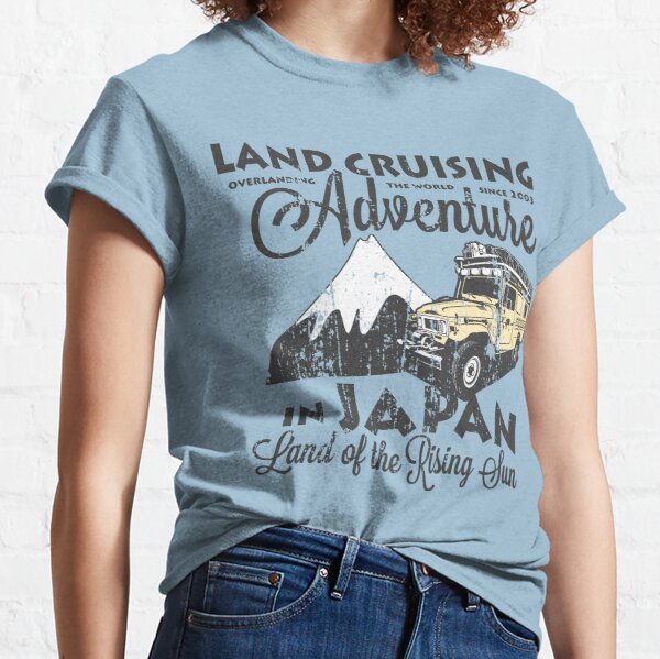 Landcruising Adventure in Japan - Curly font edition Classic T-Shirt