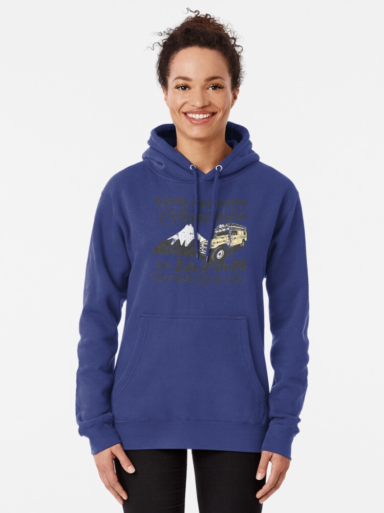 Alternate view of Landcruising Adventure in Japan - Curly font edition Pullover Hoodie