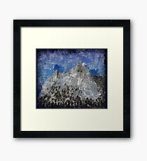 Rock Climbing Cathedral Peak Abstract Framed Print