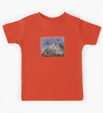 Rock Climbing Cathedral Peak Abstract Kids Clothes