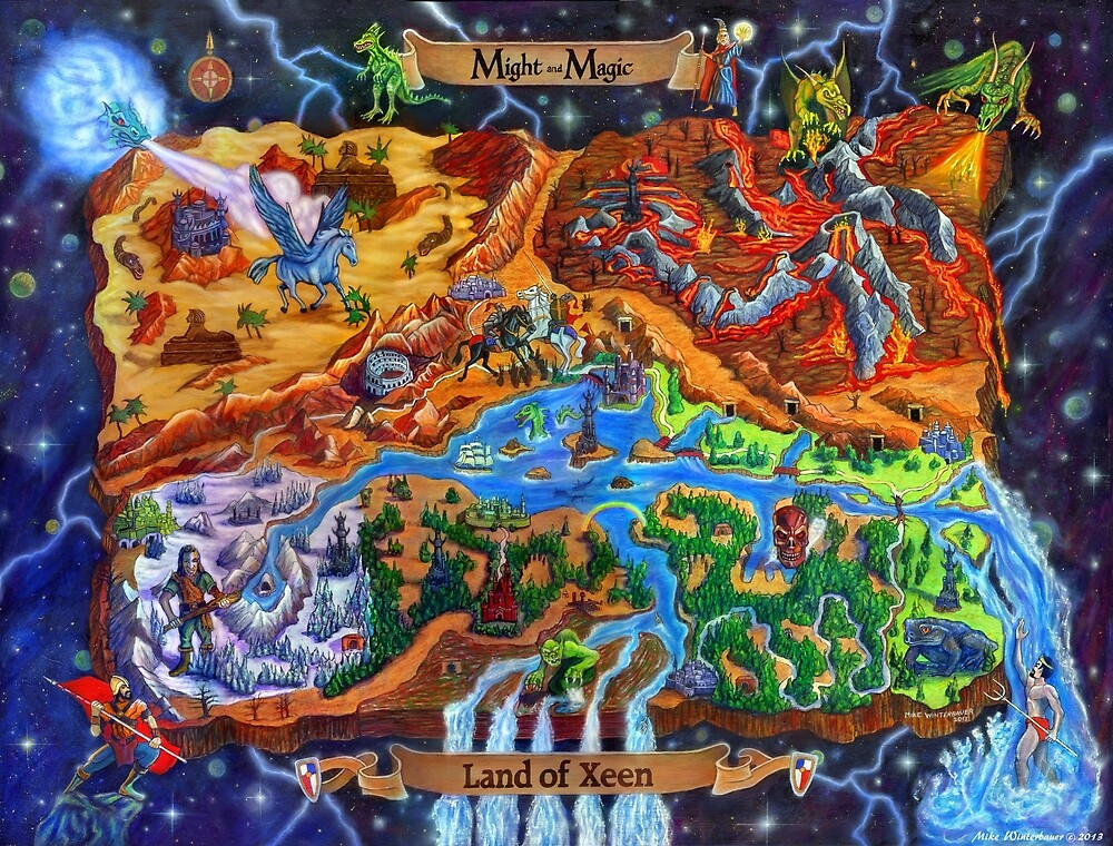 Land of Xeen Map 2013 by Mike Winterbauer