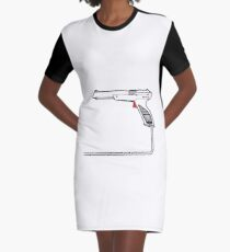 Strapped Graphic T-Shirt Dress
