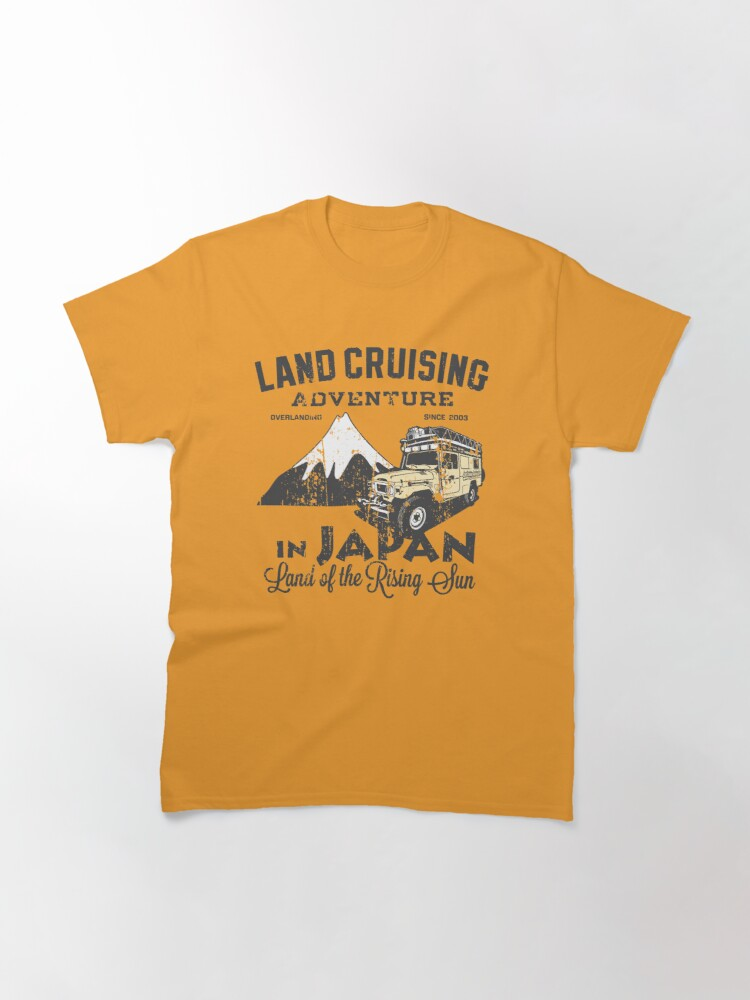 Alternate view of Landcruising Adventure in Japan - Straight font edition Classic T-Shirt