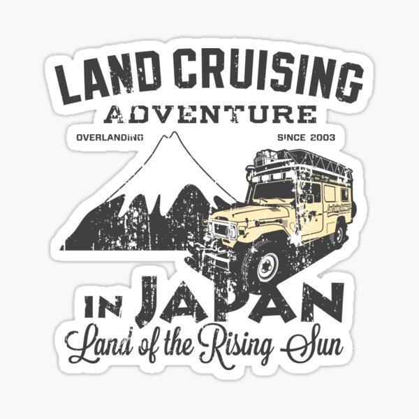 Landcruising Adventure in Japan - Straight font edition Sticker