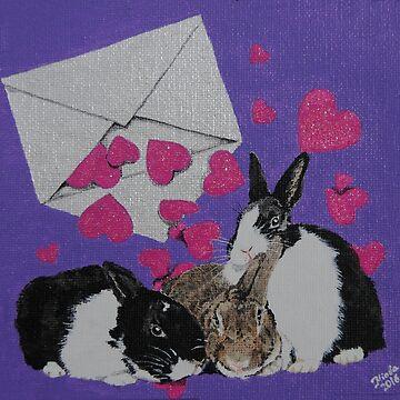 Bunny Anytime Valentines - Design Seventeen by ArtbyMinda