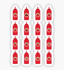 Ketchup Sauce Emoji Different Facial Emotion Sticker