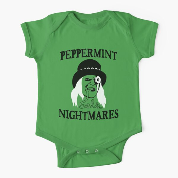 Peppermint Nightmares Short Sleeve Baby One-Piece