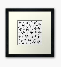 Tie Fighter Pattern Framed Print