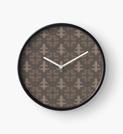 Fleur de Lis by Julie Everhart Clock