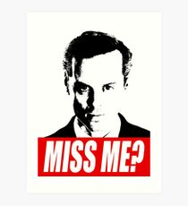 Miss Me? - Jim Moriarty - Sherlock Art Print
