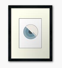 """""""modernism!"""" Blue Framed Print"""