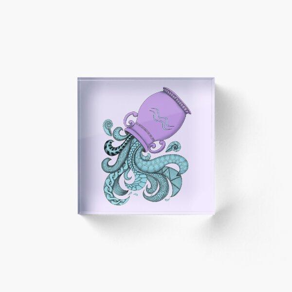 Aquarius - Purple Acrylic Block