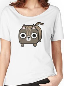 Cat Loaf - Brown Tabby Kitty Women's Relaxed Fit T-Shirt