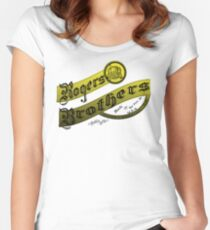 rogers brothers monogram Women's Fitted Scoop T-Shirt