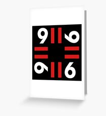 9-11 Red Greeting Card