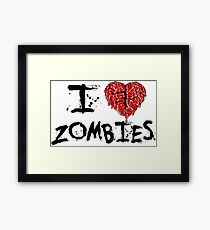 Zombie Love Framed Print