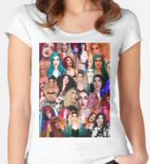 Adore Delano Collage Women's Fitted Scoop T-Shirt