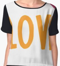 Live Love Teach Funny Teacher Shirt Chiffon Top